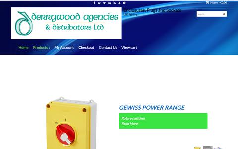 Screenshot of Home Page derrywood.com - Electrical Suppliers to the Trade And Domestic Customers - captured Oct. 8, 2018