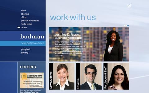 Screenshot of Jobs Page bodmanlaw.com - Careers | Bodman - captured May 27, 2017