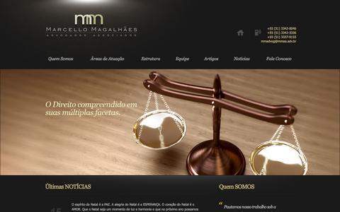 Screenshot of Home Page mmaa.adv.br - MMAA - Marcello Magalhães Advogados Associados - captured Oct. 11, 2015