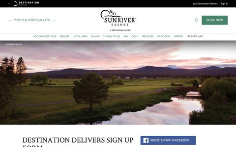 Screenshot of Signup Page destinationhotels.com - Lodging Near Bend OR | Sunriver Resort - Destination Delivers Sign Up Form - captured June 28, 2017