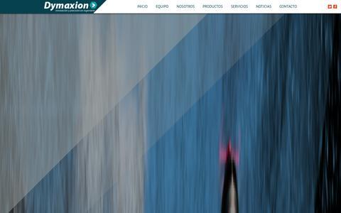Screenshot of Home Page dymaxion.co - DYMAXION SAS - captured Oct. 5, 2014