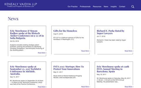 Screenshot of Press Page kviplaw.com - News - Kenealy Vaidya LLP - captured Oct. 15, 2018