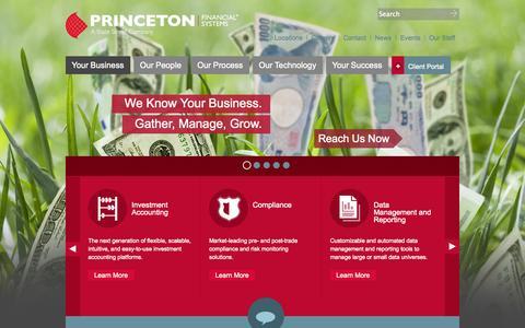 Screenshot of Home Page pfs.com - Investment Management Solutions - PFS - captured Sept. 24, 2014