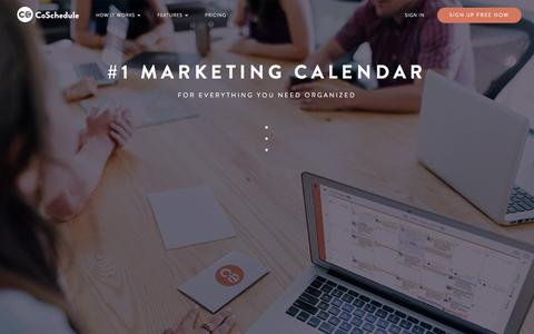 Screenshot of Home Page coschedule.com - CoSchedule - The Best Content Marketing Editorial Calendar Software - captured Sept. 9, 2016