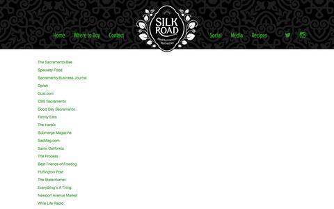 Screenshot of Press Page silkroadsoda.com - Media - Silk Road Soda - captured Dec. 21, 2015