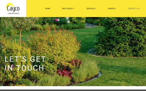 Screenshot of Contact Page caycolandscaping.com - Contact us + – Cayco Landscaping - captured Sept. 27, 2018