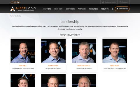 Alert Logic Leadership – Alert Logic Executives   Alert Logic
