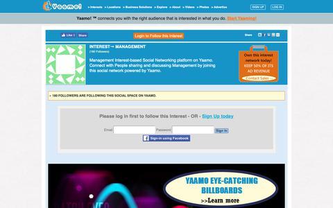 Screenshot of Team Page yaamo.com - Management Interest-based Social Networking platform   Connect with People in Management Social Network on Yaamo   home - captured Nov. 19, 2018