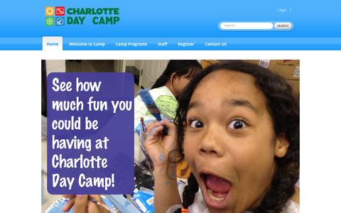Screenshot of Home Page charlottedaycamp.com - Charlotte Day Camp: Home - captured May 16, 2017