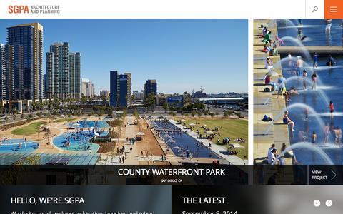 Screenshot of Home Page sgpa.com - Home - SGPA Architecture and Planning - SGPA Architecture and Planning - captured Oct. 3, 2014