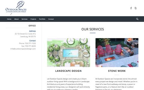 Screenshot of Services Page outdoorspacesdesign.com - Our Services - Outdoor Spaces Lanscaping - captured Nov. 30, 2016