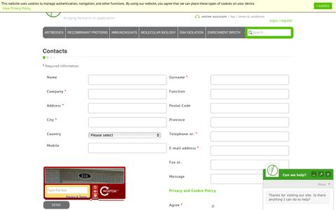 Screenshot of Contact Page diatheva.com - Contact us - captured Feb. 9, 2016