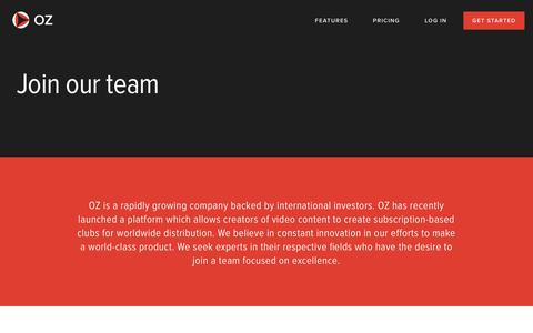 Screenshot of Jobs Page oz.com - Join our team | OZ - captured Jan. 29, 2016