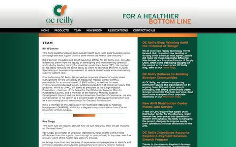 Screenshot of Team Page ocreilly.com - Healthcare Consulting | OC Reilly » TEAM - captured Oct. 7, 2014
