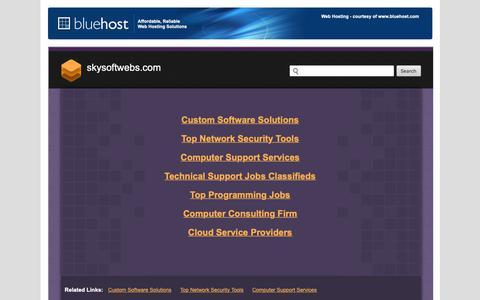 Screenshot of Home Page skysoftwebs.com - Welcome skysoftwebs.com - BlueHost.com - captured Oct. 14, 2018