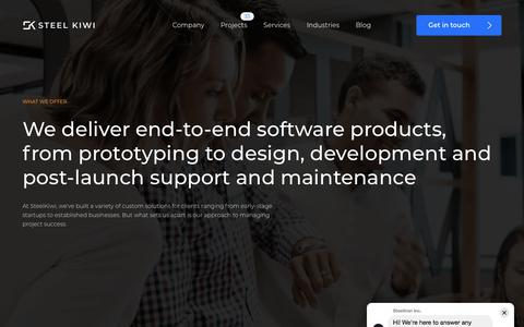 Screenshot of Services Page steelkiwi.com - Web & Mobile software development services | SteelKiwi - captured Nov. 16, 2019