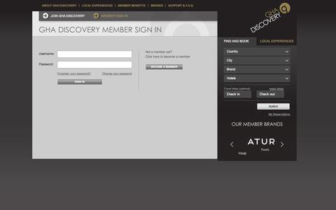 Screenshot of Login Page gha.com - Login - captured Sept. 19, 2014