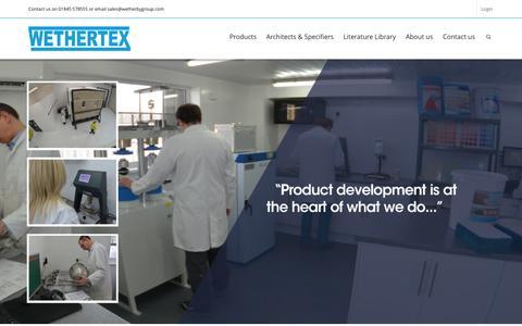 Screenshot of Home Page wethertex.co.uk - External Wall Insulation| Render| Coatings|Penetrating Damp - captured Aug. 15, 2015