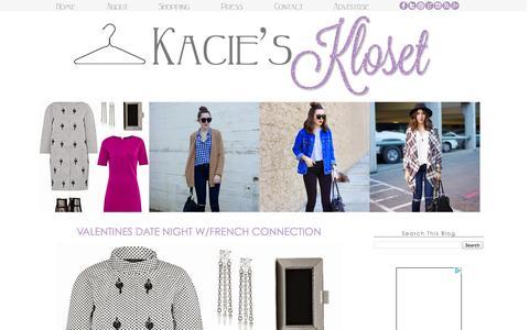 Screenshot of Home Page kaciesklosetblog.com - Kacie's Kloset - captured Jan. 23, 2015