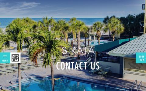 Screenshot of Contact Page sirata.com - Contact Information | Beachfront Hotel | Sirata Beach Resort - captured Nov. 13, 2017