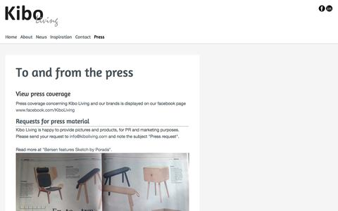 Screenshot of Press Page kiboliving.com - Kibo Living - To and from the press - captured Oct. 29, 2014