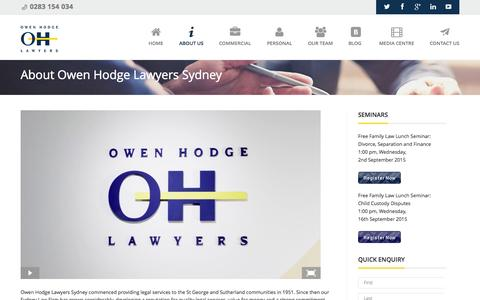 Screenshot of About Page owenhodge.com.au - About Owen Hodge Lawyers Sydney | Owen Hodge Lawyers - captured Oct. 22, 2015