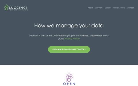 Succinct     How we manage your data
