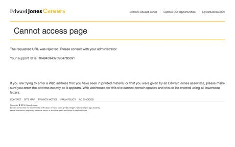 Cannot access page