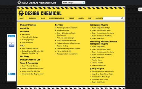 Screenshot of Site Map Page designchemical.com - Sitemap For Design Chemical - captured Nov. 3, 2019
