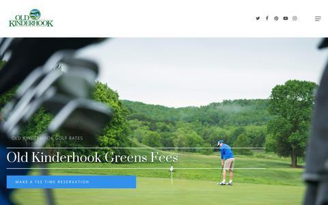 Screenshot of Pricing Page oldkinderhook.com - Old Kinderhook Golf Rates, Make A Tee Time Reservation - captured Sept. 21, 2018
