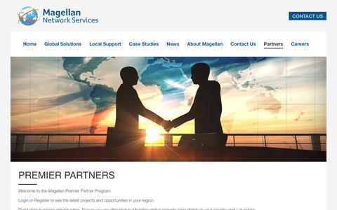 Screenshot of Signup Page magellanns.net - Premier Partners | Magellan Network Services - captured Oct. 5, 2017
