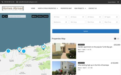 Screenshot of Maps & Directions Page homesabroadcyprus.com - Properties Map – Homes Abroad Cyprus - captured May 21, 2017