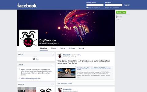 Screenshot of Facebook Page facebook.com - DigiVoodoo - Birmingham, United Kingdom - Advertising Agency | Facebook - captured Oct. 23, 2014