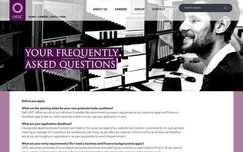 Screenshot of FAQ Page ostc.com - FAQs - captured Sept. 23, 2016