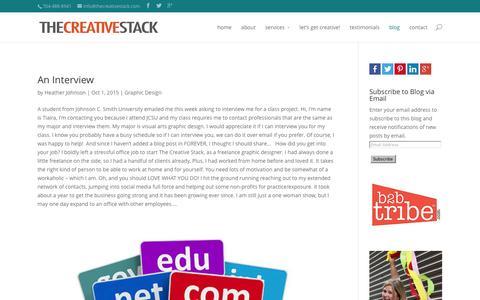 Screenshot of Blog thecreativestack.com - blog   The Creative Stack - captured Jan. 13, 2016