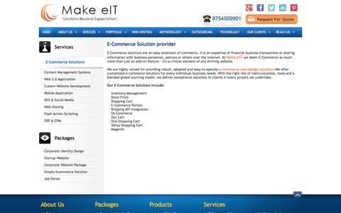 Screenshot of Services Page makeeit.com - E-Commerce Solution Provider | E-Commerce Web Design Company | E-Commerce Web Development company in chennai - captured Oct. 3, 2014