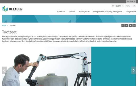 Screenshot of Products Page hexagonmi.com - Tuotteet | Hexagon Manufacturing Intelligence - captured Nov. 25, 2017