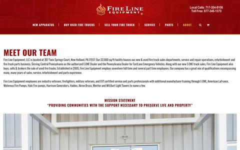 Screenshot of About Page firelineequipment.com - About Fire Line Equipment - captured Dec. 9, 2018