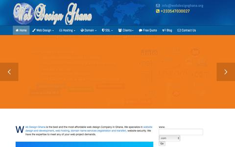 Screenshot of Home Page Terms Page webdesignghana.org - Web Design Ghana - The best Web Design, web development, domain name and hosting company in Ghana - captured Oct. 23, 2018