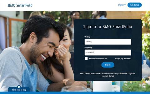 BMO SmartFolio - Sign in