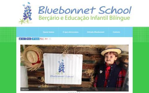 Screenshot of Home Page bluebonnet.com.br - Berçário e Educação Infantil Bilíngue - Bluebonnet School - captured Nov. 23, 2016