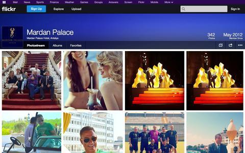 Screenshot of Flickr Page flickr.com - Flickr: Mardan Palace Hotel, Antalya's Photostream - captured Oct. 23, 2014