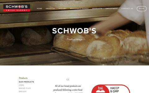 Screenshot of Products Page schwobs.com.au - Our Products — Schwobs - captured April 24, 2016