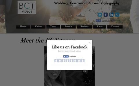 Screenshot of Team Page bctvideos.com - Wedding, Commerical & Event Videography- Info - captured Nov. 13, 2018