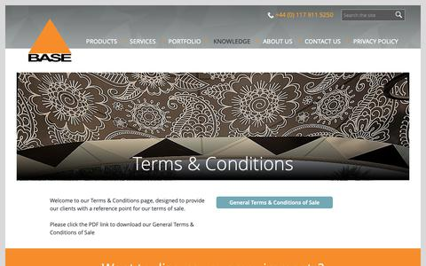 Screenshot of Terms Page basestructures.com - Our Terms And Conditions | Base Structures - captured Oct. 5, 2018