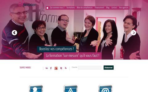 "Screenshot of Home Page ai-formation.fr - AI-Formation | La formation ""sur-mesure"" - captured Sept. 30, 2014"