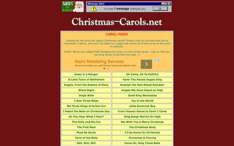 Screenshot of Home Page christmas-carols.net - CHRISTMAS-CAROLS.NET - Rejoice in the Christmas Spirit! - captured June 20, 2015