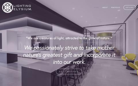 Screenshot of Home Page lightingelysium.com - Lighting Elysium - captured July 13, 2016