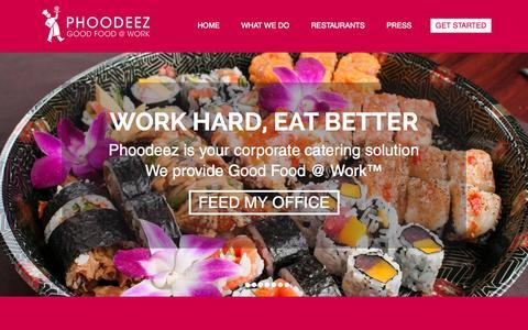 Screenshot of Team Page phoodeez.com - Phoodeez - captured July 3, 2015