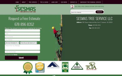 Screenshot of Contact Page atltrees.com - Contact Us  Tree Services in Lawrenceville & Suwanee, GA | Tree Removal Alpharetta | Tree Trimming Duluth | Tree Pruning Johns Creek | Cheap Tree Removal in Sandy Springs & Dunwoody | Emergency Tree Removal | Tree Cutting - captured Feb. 14, 2016